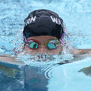 Swimmer Saryn McCullough (7) competes in the 25 meter breaststroke during the Summer Swim league championships finials Saturday, July. 17, 2015 at Western YMCA in Wilmington, DEL