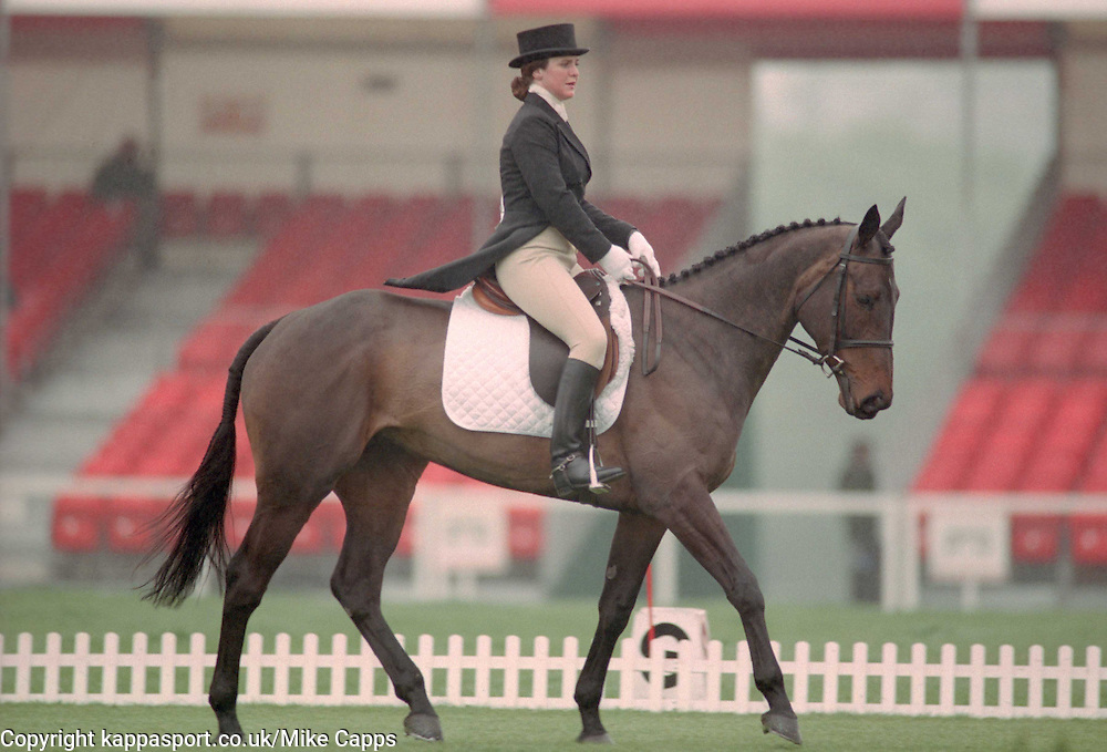 MISS RACHAEL CHADDOCK ON LAST OF THE INCAS, MRS KATHRYN  HARRIS ON REMEMBER RED, Mitsubishi Badminton Horse Trials, Three Day Event Dressage, May 6th 1994