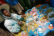 """ADDIS ABABA, ETHIOPIA..The """"Mercato"""", biggest market between Cairo and Cape Town. Spice vendor..(Photo by Heimo Aga)"""
