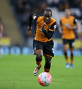 Hull City midfielder Moses Odubajo (2) during the The FA Cup match between Hull City and Brighton and Hove Albion at the KC Stadium, Kingston upon Hull, England on 9 January 2016.