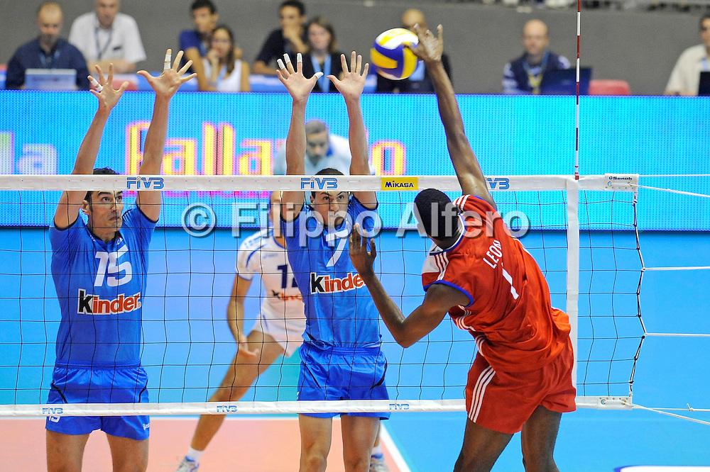 &copy; Filippo Alfero<br /> Torino , 18/07/2008<br /> World League Pallavolo 2008 - Italia vs Cuba<br /> sport , volley<br /> Nella foto: Leon
