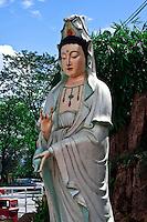 Statue of goddess Tian Hou near the entrance of Thean Hou Temple in Kuala Lumpur.