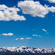 The mountains on the east of Cache Valley Utah as taken from Trenton, Utah Taken 5/10/06. August Miller