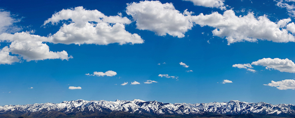 The mountains on the east of Cache Valley Utah as taken from Trenton, Utah Taken 5/10/06. August Miller