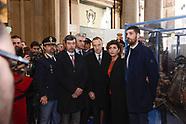 20180124 - A Roma i resti dell'auto della scorta Falcone