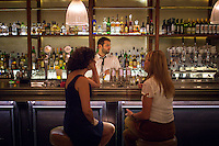 Athens, Greece- September 12, 2014: Friends chatting over drinks at Osterman, near the lively Agia Irini Square in Athens. CREDIT: Chris Carmichael for The New York Times
