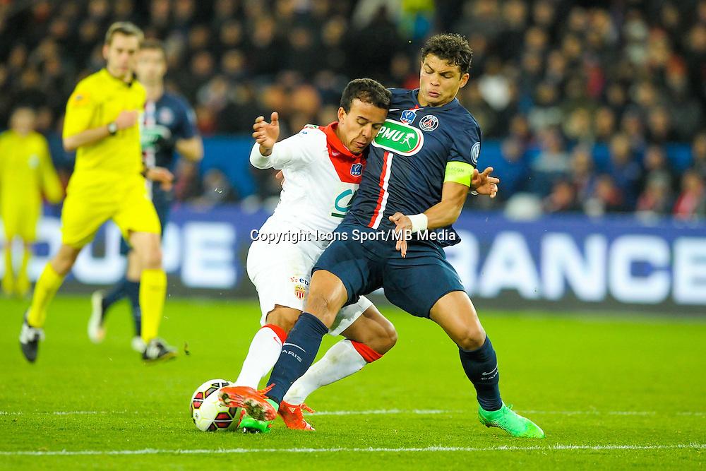 Thiago Silva / Matheus Carvalho - 04.03.2015 - PSG / Monaco - 1/4Finale Coupe de France<br />Photo : Andre Ferreira  / Icon Sport