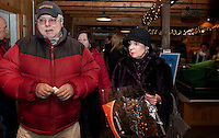Family and friends gather for  the Launch a Wish to benefit Diane Kline Scholarship Fund  January 14, 2012 at Moulton's Farm in Meredith.  (Karen Bobotas/for the Laconia Daily Sun)