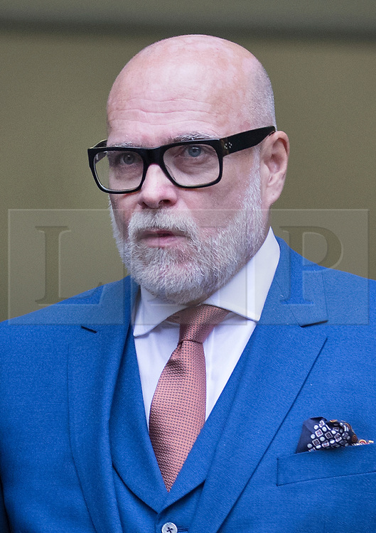 © Licensed to London News Pictures. 14/11/2017. London, UK. GARY GOLDSMITH, an uncle of the Duchess of Cambridge, leaves Westminster Magistrates Court. The younger brother of Kate Middleton's mother allegedly punched his wife, Julie-Ann Goldsmith, during a late night argument outside their west London home, following a night out.  Mr Goldsmith has pleaded guilty and will return for sentencing next week. . Photo credit: Peter Macdiarmid/LNP