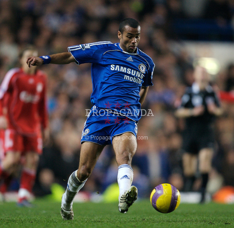 LONDON, ENGLAND - Sunday, February 10, 2008: Chelsea's Ashley Cole during the Premiership match against Liverpool at Stamford Bridge. (Photo by David Rawcliffe/Propaganda)