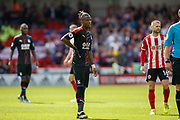Wilfried Zaha of Crystal Palace during the Premier League match between Sheffield United and Crystal Palace at Bramall Lane, Sheffield, England on 18 August 2019.