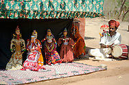 A puppet show at the Shilpgram Craftsmen's Village;  Udaipur, Rajasthan, India