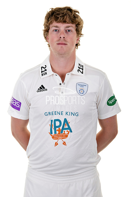 Sam Northeast of Hampshire in Specsavers County Championship kit  during the Hampshire County Cricket Club Media Day at the Ageas Bowl, Southampton, United Kingdom on 10 April 2018. Picture by Dave Vokes.
