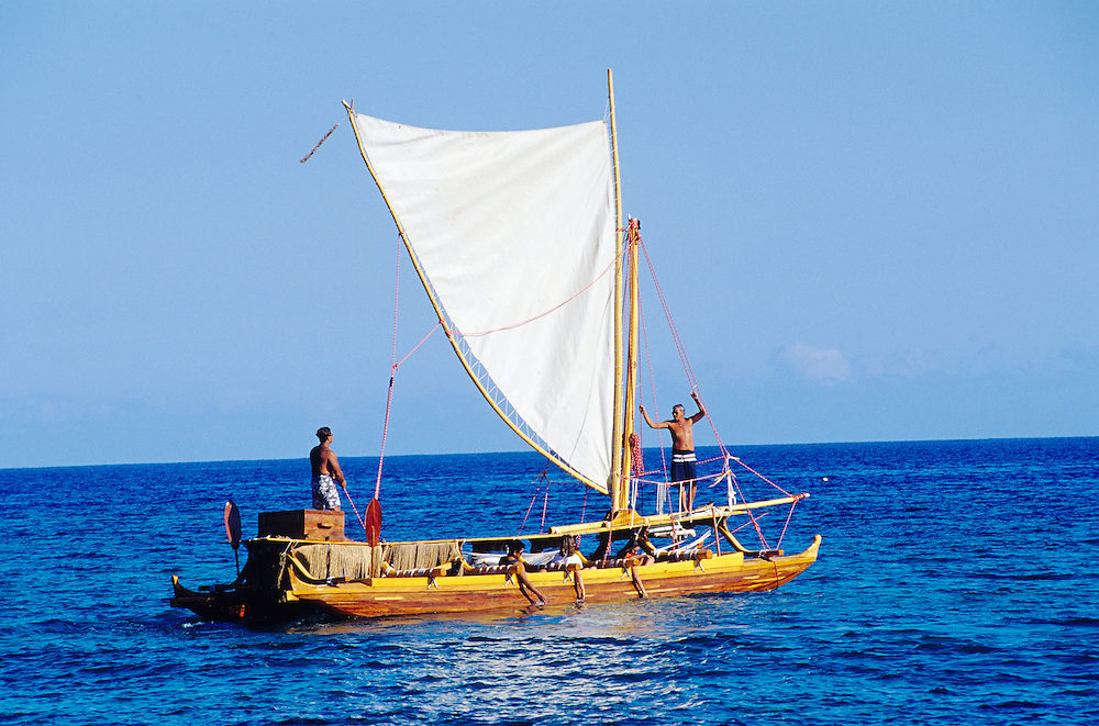 Big Island, Hawaii, Hawaiian double hull sailing canoe, Hahalua Lele