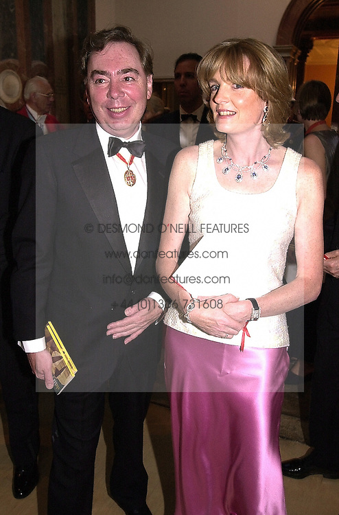 LORD &amp; LADY LLOYD-WEBBER at a dinner in <br /> London on 19th June 2000.OFL 40<br /> &copy; Desmond O&rsquo;Neill Features:- 020 8971 9600<br />    10 Victoria Mews, London.  SW18 3PY <br /> www.donfeatures.com   photos@donfeatures.com<br /> MINIMUM REPRODUCTION FEE AS AGREED.<br /> PHOTOGRAPH BY DOMINIC O'NEILL
