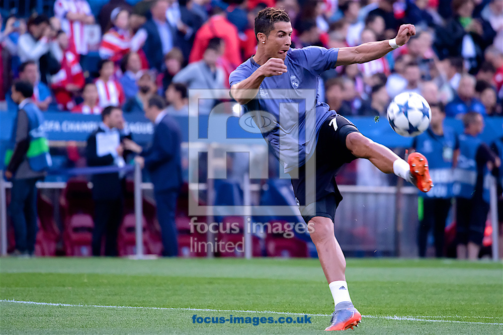 Antoine Griezmann of Atletico Madrid during the second leg of the UEFA Champions League semi-final at Vicente Calderon Stadium, Madrid<br /> Picture by Kristian Kane/Focus Images Ltd +44 7814 482222<br /> 10/05/2017
