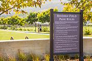 Sendero Field Park Signage