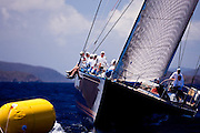 astro de l'est sailing in the Caribbean Superyacht Regatta and Rendezvous, race 1.