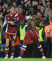 Ade Akinbiyi (Burnley) Celebrates scoring the equalizing goal with Chris Eagles. Chelsea v Burnley Carling League Cup 12/11/2008 Credit : Colorsport / Andrew Cowie