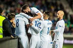 Players of Slovenia during football match between National Teams of Slovenia and Norwey in UEFA Nations League 2019, on November 16, 2018 in SRC Stozice, Ljubljana, Slovenia. Photo by Grega Valancic / Sportida