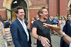 Left to right, Jack Brooksbank and Jacobi Anstruther-Gough-Calthorpe at the V&A Summer Party 2017 held at the Victoria & Albert Museum, London England. 21 June 2017.