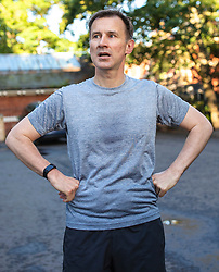 © Licensed to London News Pictures. 20/06/2019. London, UK. Foreign Secretary Jeremy Hunt outside his London home after a run. Photo credit: Rob Pinney/LNP