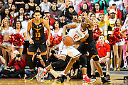 LUBBOCK, TX - MARCH 1: Keenan Evans #12 of the Texas Tech Red Raiders tries to drives to the basket during the game against the Texas Tech Red Raiders on March 1, 2017 at United Supermarkets Arena in Lubbock, Texas. Texas Tech defeated Texas 67-57. (Photo by John Weast/Getty Images) *** Local Caption *** Keenan Evans