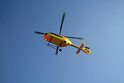 rescue helicopter during flight