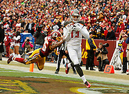 LANDOVER, MD - NOVEMBER 16: Wide Receiver Mike Evans #13 of the Tampa Bay Buccaneers during the game against the Washington Redskins at FedExField on November 16, 2014 in Landover, Maryland. The Buccaneers won 27-7. (photo by Mike Carlson/Tampa Bay Buccaneers)