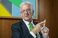 22 SEP 2016, BERLIN/GERMANY:<br /> Winfried Kretschmann, B90/Gruene, Ministerpraesident Baden-Wuerttemberg, waehrend einem Interview, Landesvertertung Baden-Wuerttemberg<br /> IMAGE: 20160922-01-016