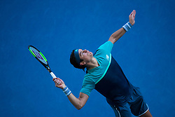 January 23, 2019 - Melbourne, VIC, U.S. - MELBOURNE, VIC - JANUARY 23: MILOS RAONIC (CAN) during day ten match of the 2019 Australian Open on January 23, 2019 at Melbourne Park Tennis Centre Melbourne, Australia (Photo by Chaz Niell/Icon Sportswire (Credit Image: © Chaz Niell/Icon SMI via ZUMA Press)