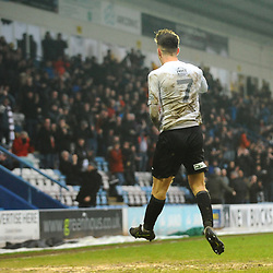 TELFORD COPYRIGHT MIKE SHERIDAN GOAL. Ryan Barnett of Telford scores to make it 2-0 during the Vanarama Conference North fixture between AFC Telford United and Alfreton Town at the New Bucks Head Stadium on Thursday, December 26, 2019.<br /> <br /> Picture credit: Mike Sheridan/Ultrapress<br /> <br /> MS201920-036