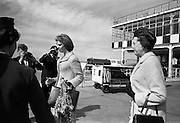 Princess Margaretha of Sweden and her husband, John Ambler, at Dublin Airport. Picture shows Princess Margaretha and Mrs. Nils Eric Ekblad, wife of the Swedish Ambassador to Ireland..28.04.1967