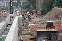 East end of Project, view East. Construction Progress Photography of the Railroad Station at Fairfield Metro Center - Site visit 13 of once per month Chronological Documentation.