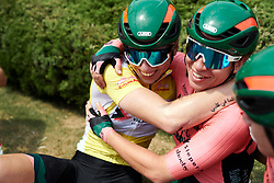Hugs for the winner at Tour of Chongming Island 2019 - Stage 3, a 118.4 km road race on Chongming Island, China on May 11, 2019. Photo by Sean Robinson/velofocus.com