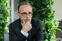 15 MAY 2019, BERLIN/GERMANY:<br /> Heiko Maas, SPD, Bundesaussenminister, waehrend einem Interview, Restaurant des Deutschen Bundestages, Reichstagsgebaeude<br /> IMAGE: 20190515-01-011