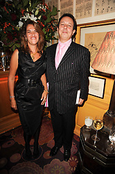 TRACEY EMIN and DETMAR BLOW at a party to celebrate the publication of Blow by Blow - The Story of Isabella Blow by Detmar Blow and Tom Sykes held at Annabel's, Berkeley Square, London on 21st September 2010.