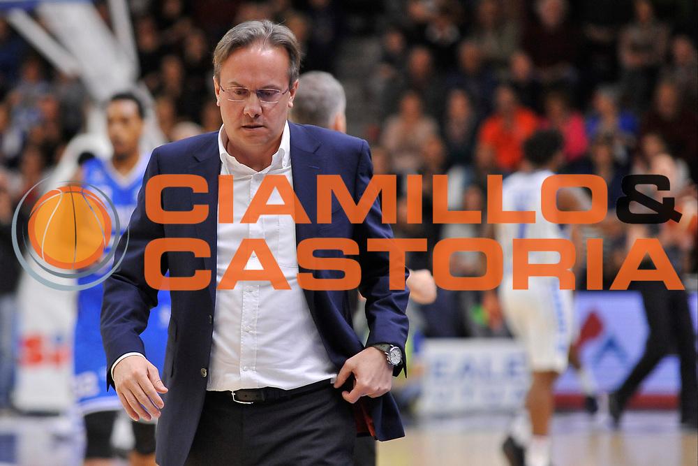 Federico Pasquini<br /> Banco di Sardegna Dinamo Sassari - Enel New Basket Brindisi<br /> LegaBasket Serie A LBA Poste Mobile 2016/2017<br /> Sassari 02/04/2017<br /> Foto Ciamillo-Castoria