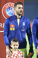 ZAGREB, CROATIA - NOVEMBER 09:  Portrait of Alexandros Tziolis of Greece runs during the FIFA 2018 World Cup Qualifier play-off first leg match between Croatia and Greece at Maksimir Stadium on November 9, 2017 in Zagreb, Croatia. (Sanjin Strukic/PIXSELL)