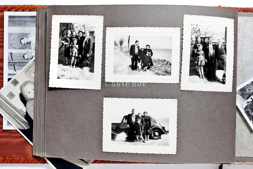 family album page France 1954