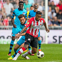 EINDHOVEN - 14-08-2016, PSV - AZ, Philips Stadion, AZ speler Derrick Luckassen, AZ speler Joris van Overeem, PSV speler Jurgen Locadia