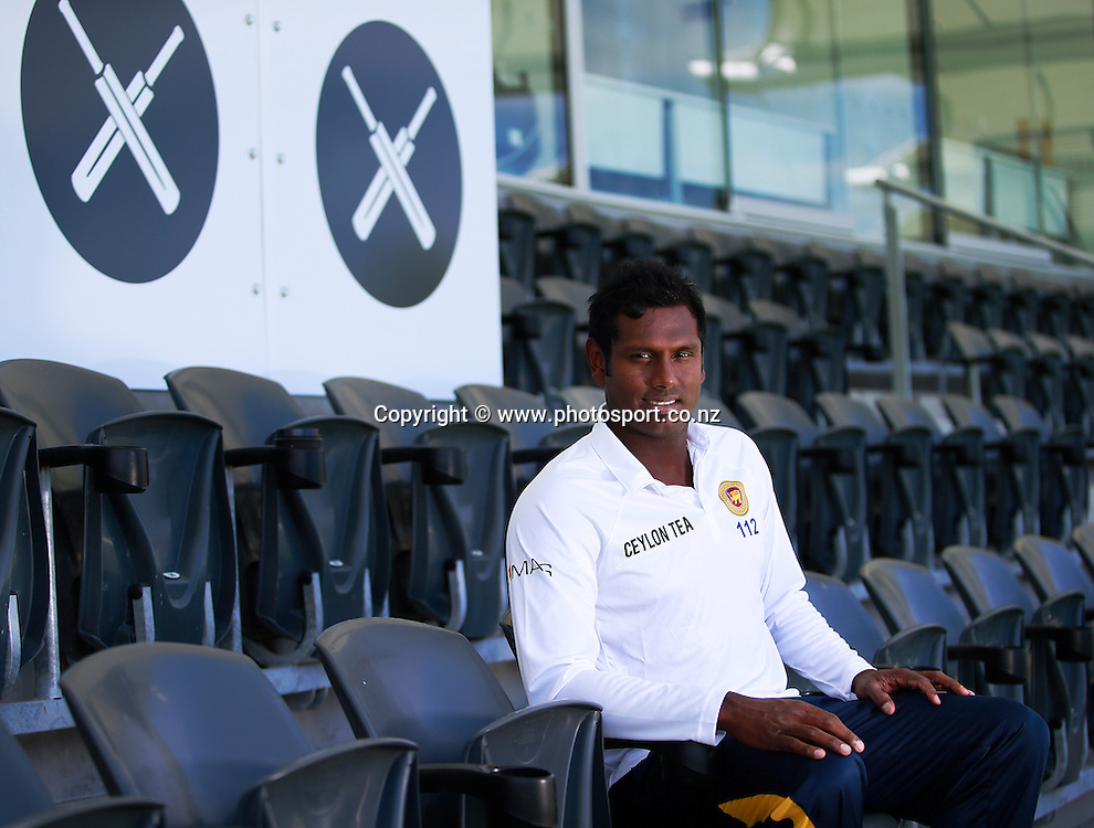 Angelo Mathews captain of Sri Lanka before team training at Hagley Oval, Christchurch. 24 December 2014 Photo: Joseph Johnson / www.photosport.co.nz