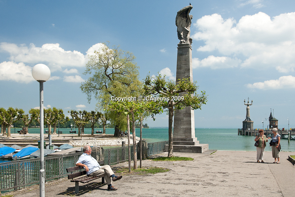 "In the town of Konstanz on Lake Constance or Bodensee, a lake on the Rhine at the northern foot of the Alps, and consists of three bodies of water: the Obersee (""upper lake""), the Untersee (""lower lake""), and a connecting stretch of the Rhine, called the Seerhein."
