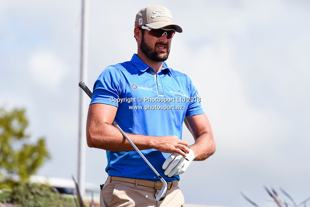 Daniel Pearce (NZL).<br /> NZ Rebel Sports Masters, Wainui Golf Club, Wainui, Auckland, New Zealand. 14 January 2018. &copy; Copyright Image: Marc Shannon / www.photosport.nz.