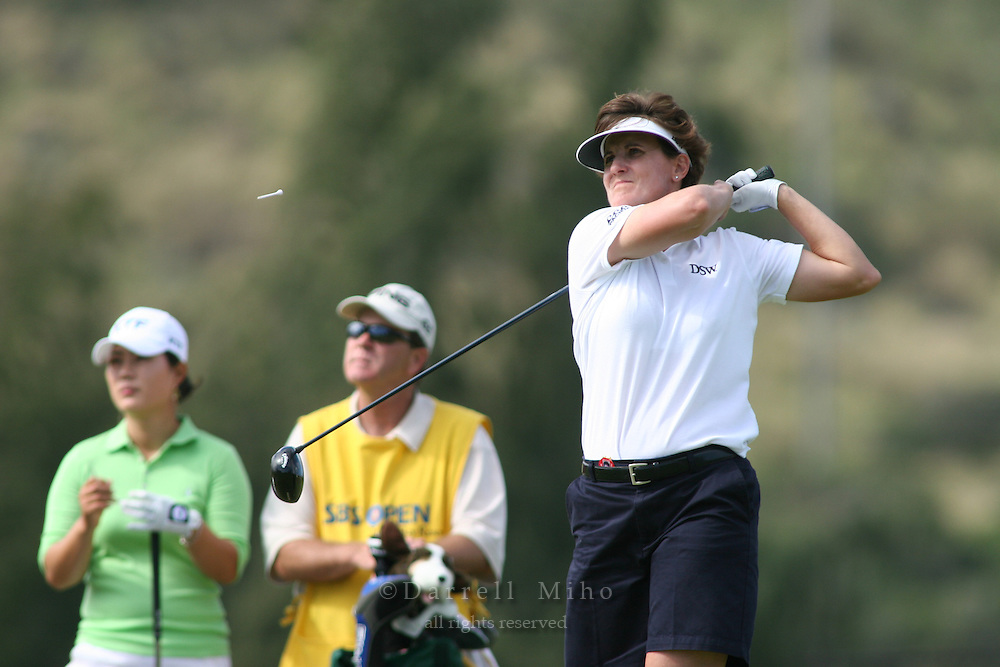 February 16, 2006 - Kahuku, HI - Michele Redman tees off during Round 1 of the LPGA SBS Open at Turtle Bay Resort...Photo: Darrell Miho