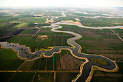 Aerial photo of the California Delta, June 28, 2011.