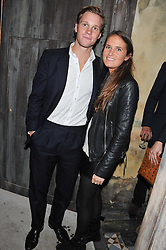 RORY McMULLEN and VICTORIA VON WESTENHOLZ at the launch party for the new nightclub Tonteria, 7-12 Sloane Square, London on 25th October 2012.