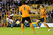 Jordan Amavi has an effort at goal during the Pre-Season Friendly match between Wolverhampton Wanderers and Aston Villa at Molineux, Wolverhampton, England on 28 July 2015. Photo by Alan Franklin.