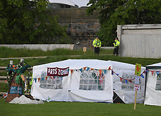 Climate change protest camp at Scottish Parliament, Edinburgh, 17 June 2019