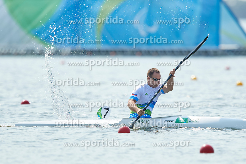 Dejan Fabcic of Slovenia competes in Canoe Sprint Men's KL2 semifinal during Day 7 of the Rio 2016 Summer Paralympics Games on September 14, 2016 in Lagoa Canoe Stadium, Rio de Janeiro, Brazil. Photo by Vid Ponikvar / Sportida